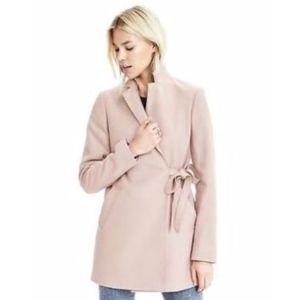 Banana Republic Melton Side-Tie Coat Lotus Pink